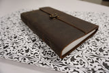 Classic Leather Journal Vintage Look with Latch