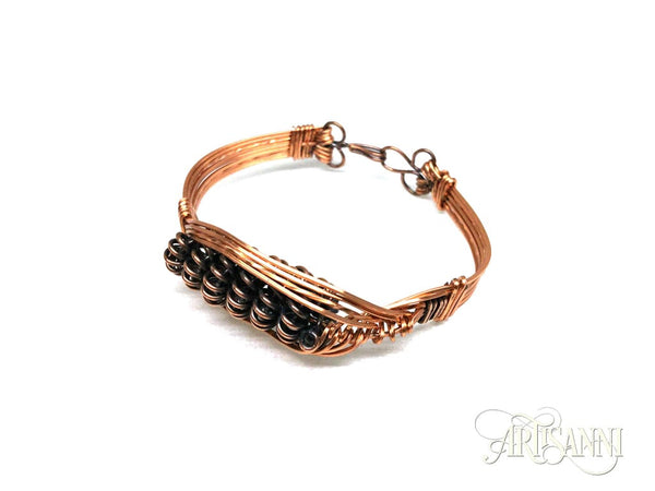 Antiqued Copper Multi-Strand Bracelet