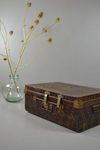 Vintage Metal Trunk Coffee Table - Kernow Furniture 100s vintage, retro & antique items in stock