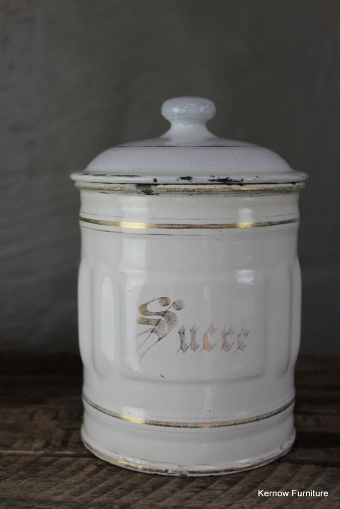 French Enamel Sucre Jar