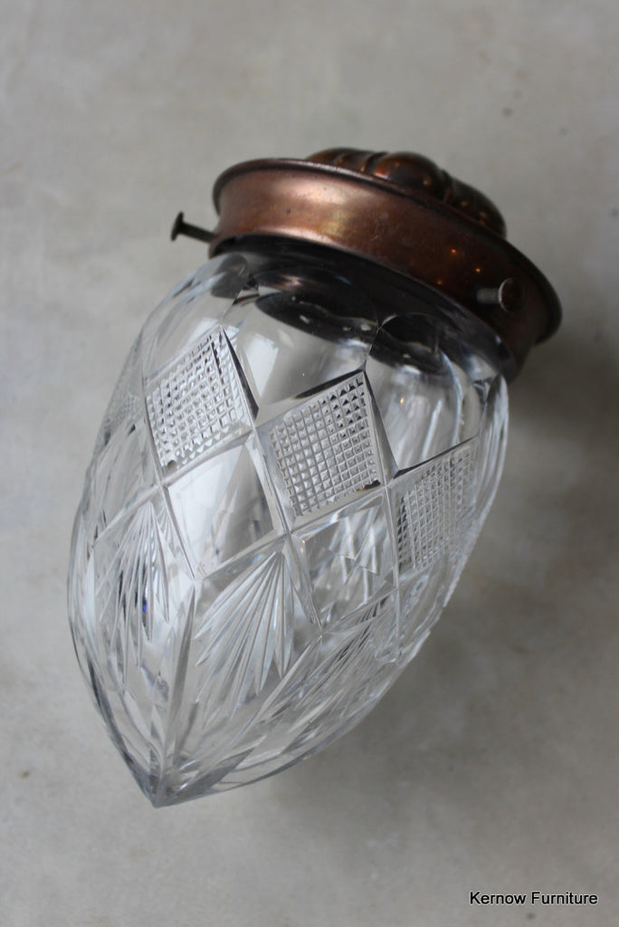 Copper Cut Glass Small Ceiling Light