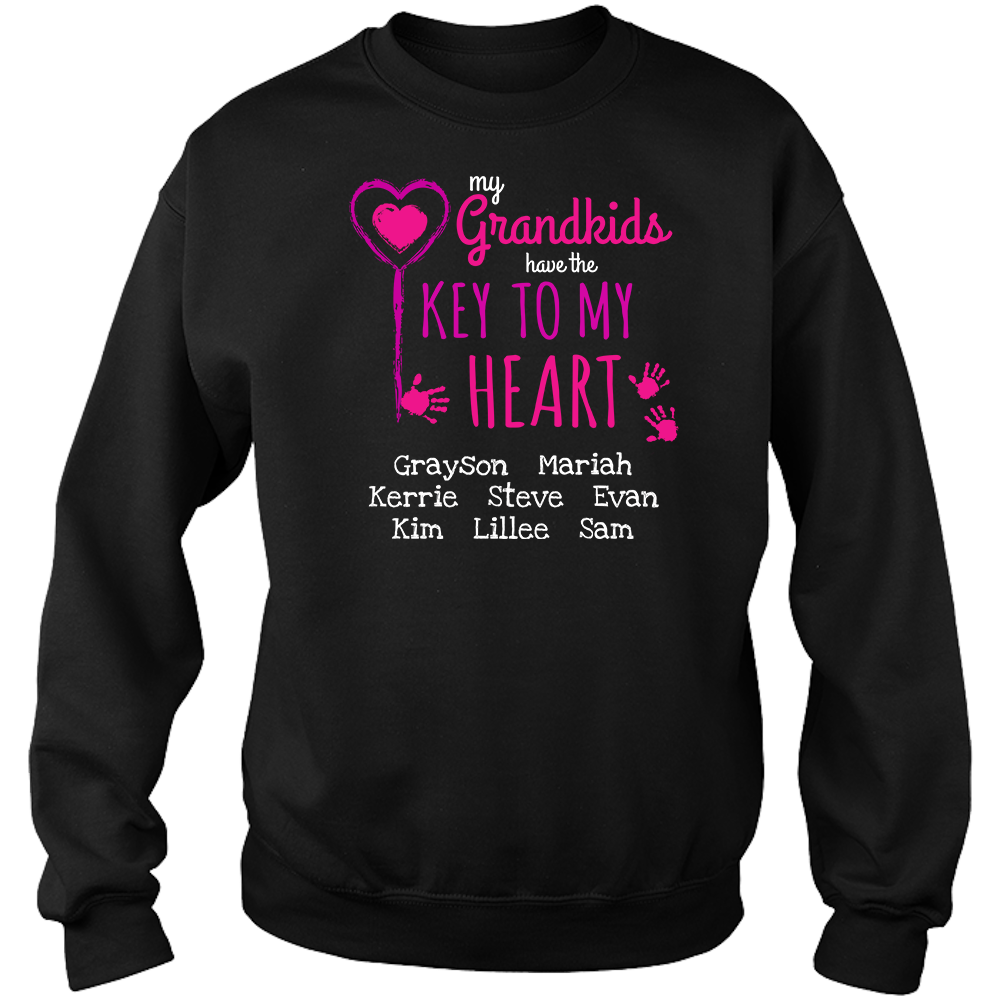 Key To My Heart Personalized Grandma Sweat Shirt