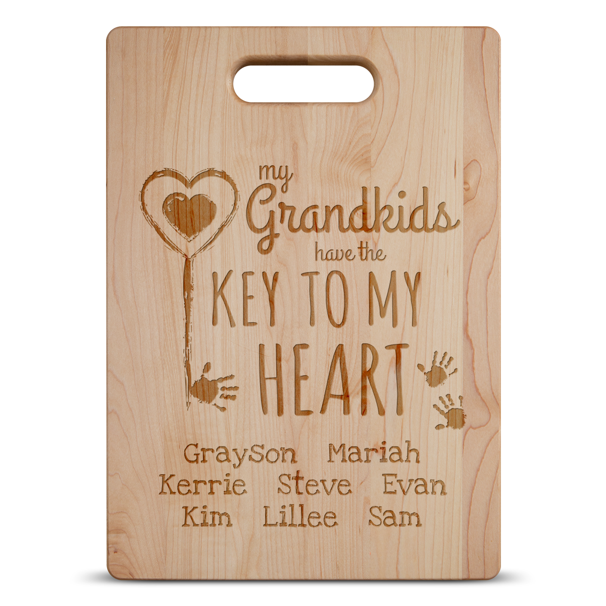 Key To My Heart Grandma Cutting Board