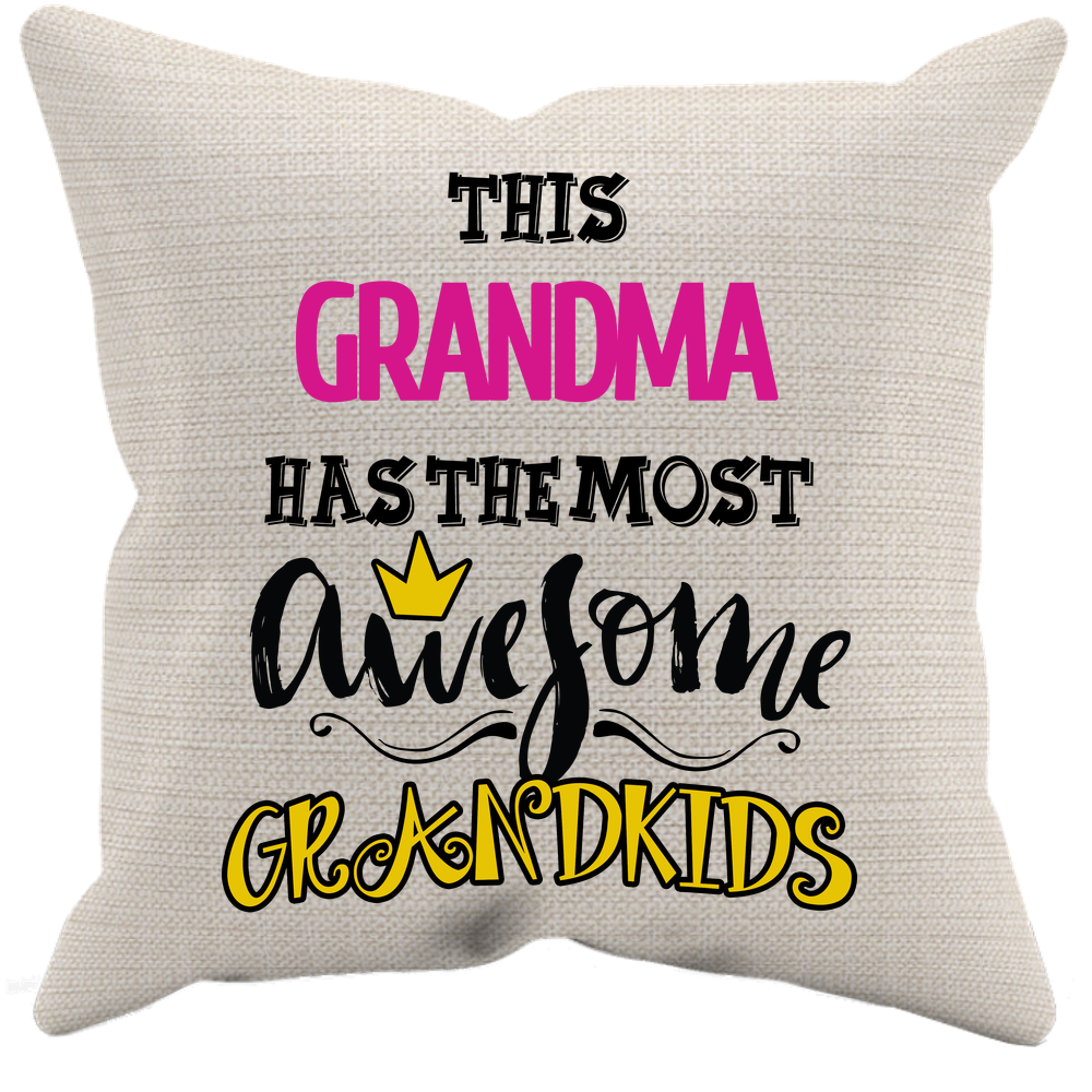Awesome Grandma Canvass Pillow Cover