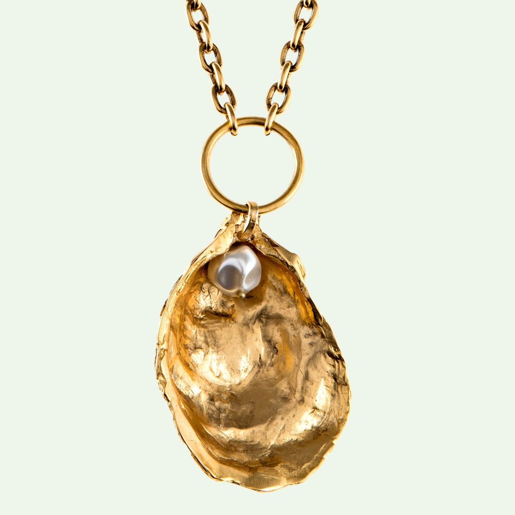 Oyster Long Pendant Necklace