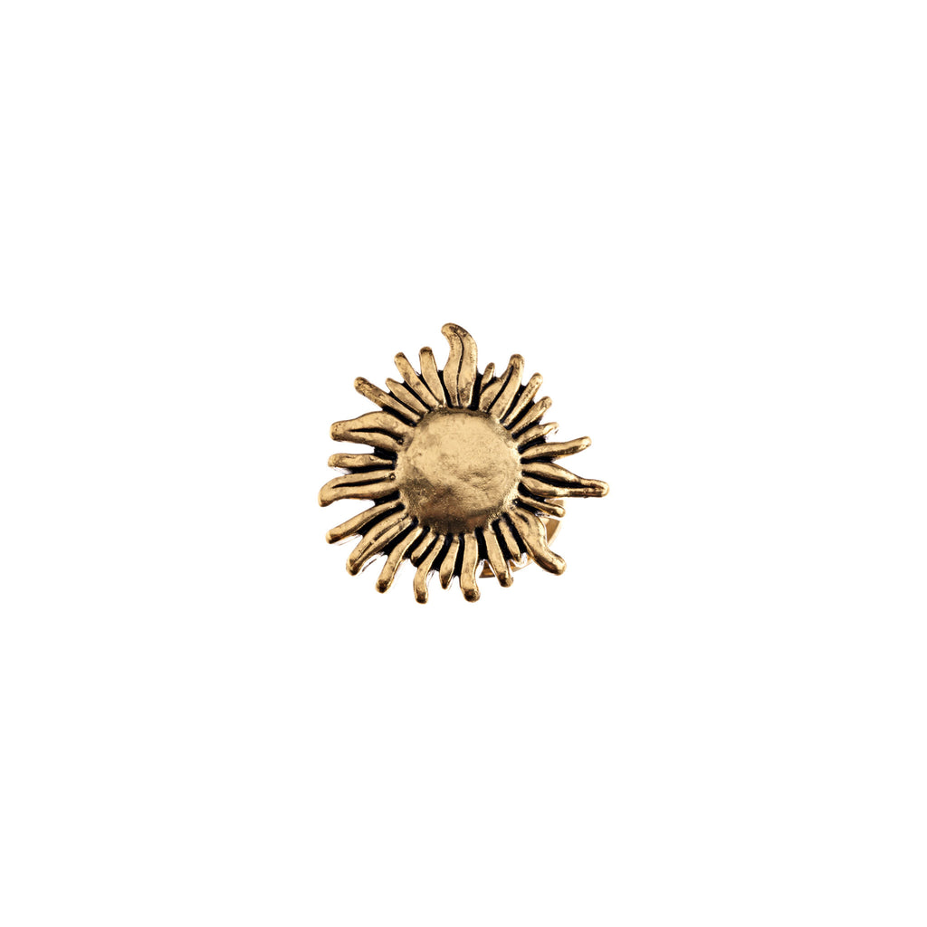 Gold Sunflower Pin