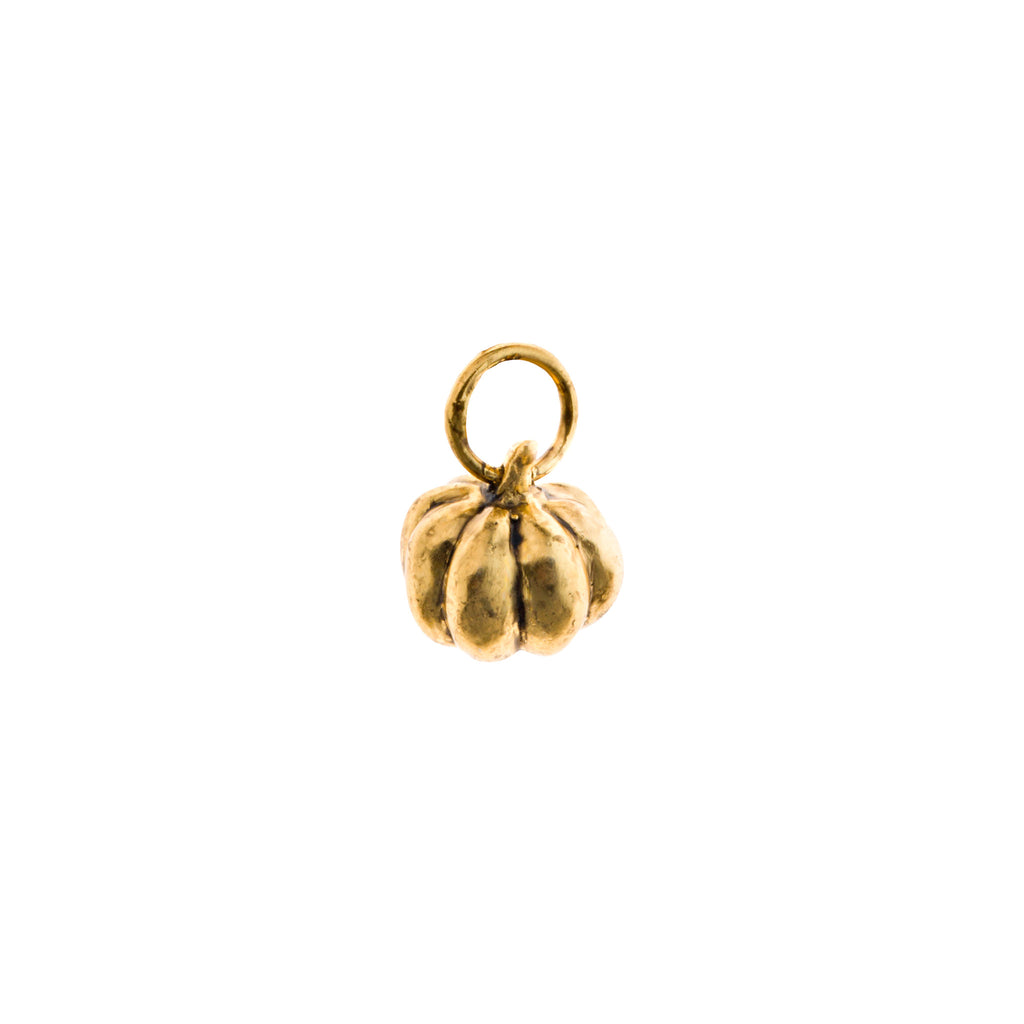 Gold Pumpkin Charm