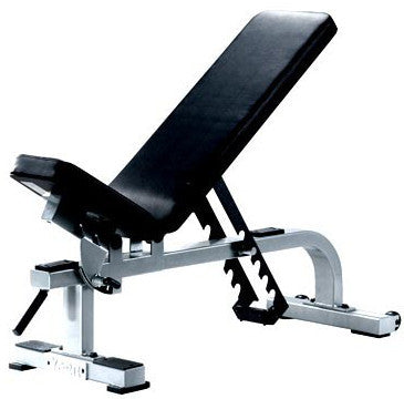 York Barbell Flat-To-Incline Bench - White - Strength Fitness Outlet