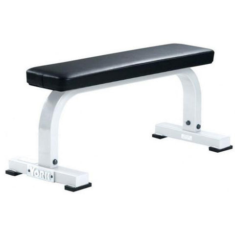 York Barbell Flat Bench - White - Strength Fitness Outlet
