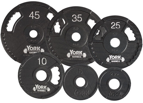 "York Barbell 2"" G2 Cast Iron Dual Grip Olympic Plates - Strength Fitness Outlet"