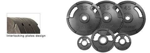 "York Barbell 2"" G2 Thin Line Rubber Coated Olympic Plates - Strength Fitness Outlet"