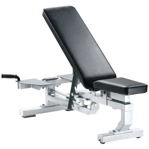 York Barbell Multi-Function Bench with Wheels - White - Strength Fitness Outlet