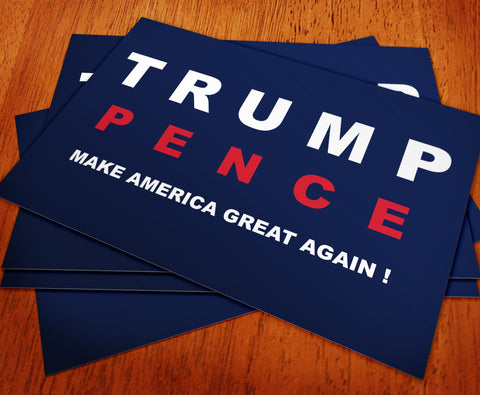 Donald Trump and Mike Pence Rally Sign