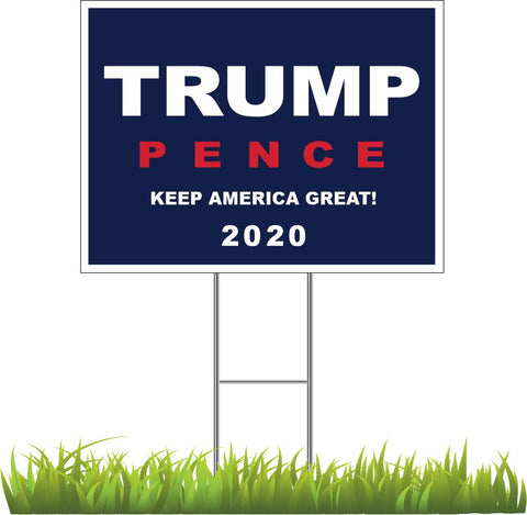 Donald Trump and Mike Pence 2020 Yard Sign
