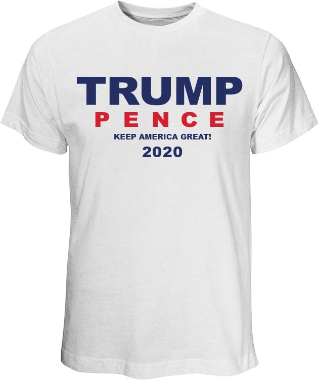 Donald Trump and Mike Pence 2020 White T-Shirt