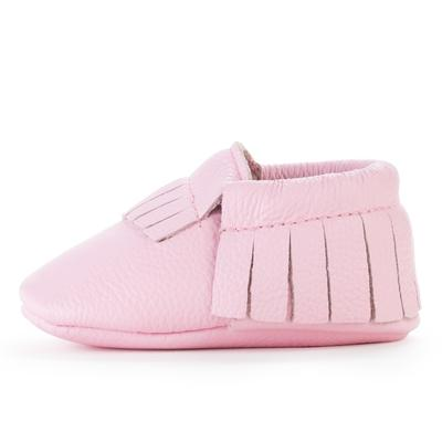 BirdRock Baby - Light Pink Genuine Leather Baby Moccasins