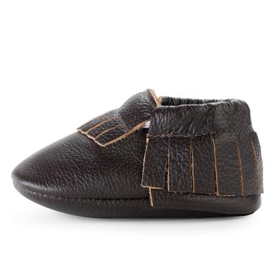 BirdRock Baby - Espresso Genuine Leather Baby Moccasins