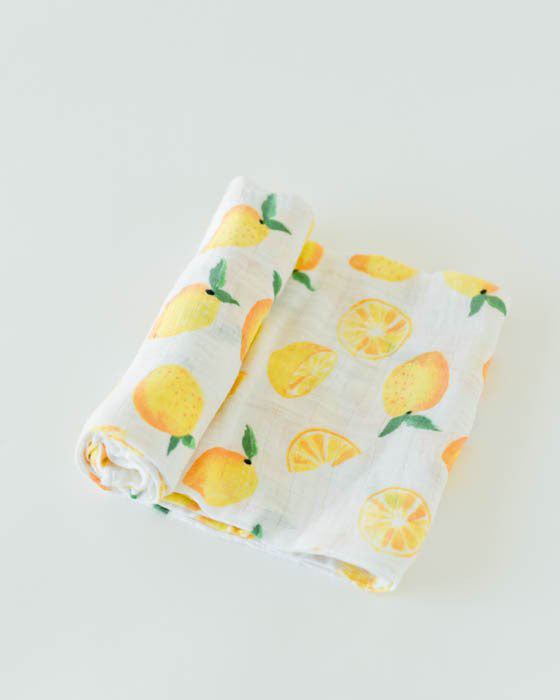100% Cotton Lemon Swaddle - Dot.Kidz