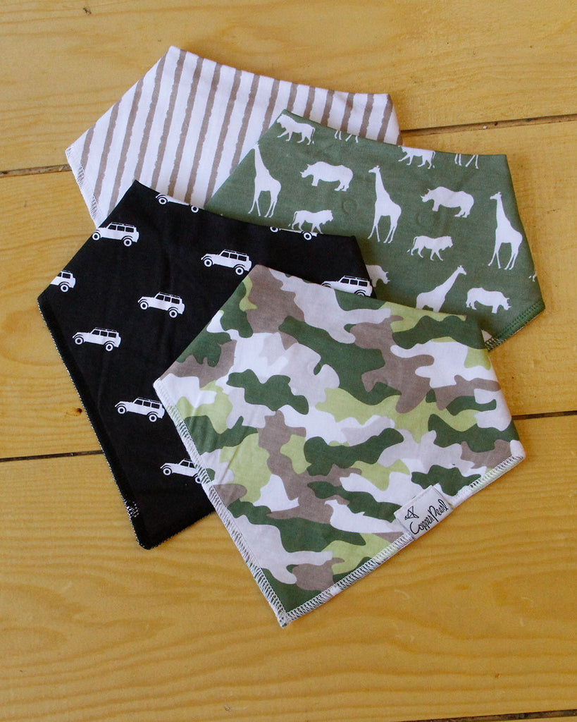 Safari Bib Set - DOT.KIDZ