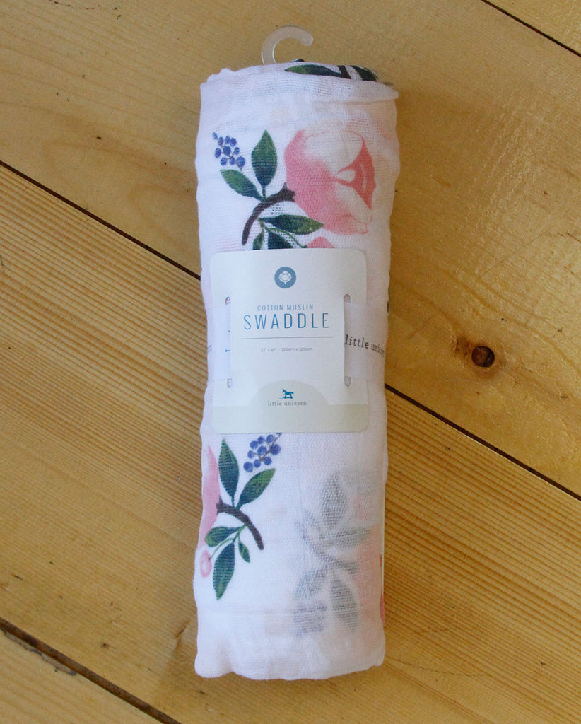 Watercolor Rose Swaddle - DOT.KIDZ