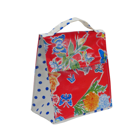 Insulated Lunchbag - Butterfly Red