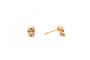 Mini Skull Stud Gold