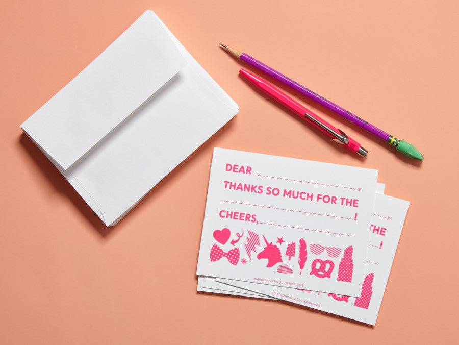 Thank You Cards (Neon Pink)