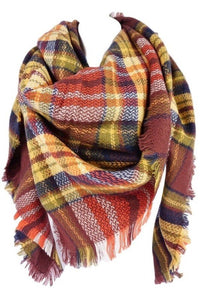 Oversized Blanket Scarf Brick