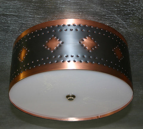 Ceiling Light - CFC, Espana design, Dark Bronze-Natural copper