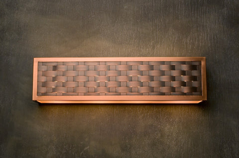 Vanity Light - VAL, Weave, Medium Bronze-Natural