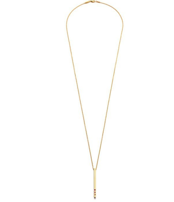 Amano Studio Gold Rod Necklace - Rose Colorway
