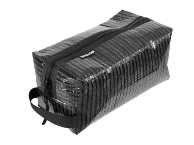 RAGGEDedge Carbon Fiber Sailcloth Toiletry Bag, front quarter