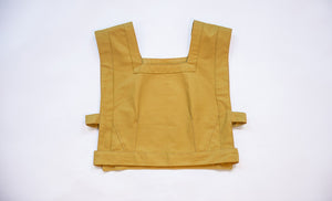 triangle top in organic mustard yellow