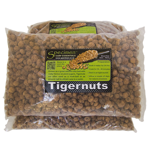 Tigernuts are great for Carp fishing