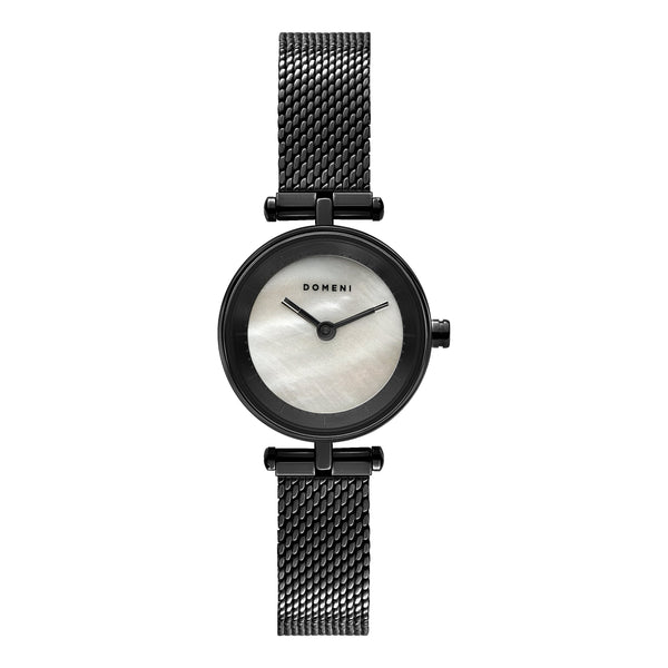 Watches - Milanese Mesh Micro Series - Black Mother Of Pearl [Pre-order Price]