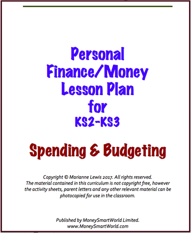 Free Budgeting Lesson Plan for KS2 & KS3