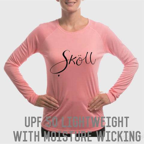 Sköll Soft Salmon Female long sleeve UPF 50 shirt