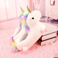 Plush Unicorn Slipperss