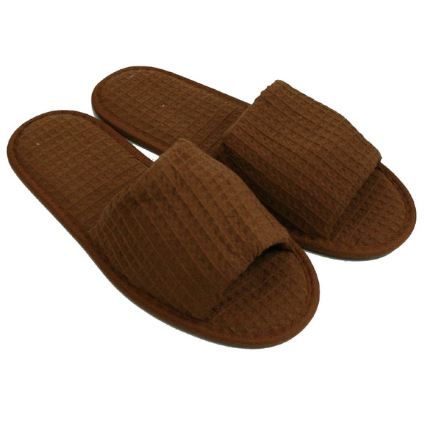 Open Toe Cheap Shower Gym House Slippers Waffle Weave Spa