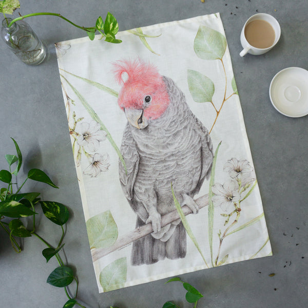 Gang Gang Cockatoo Tea Towel
