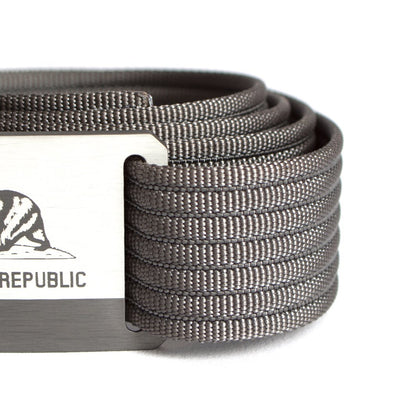Kids' California Flag Buckle GRIP6 belt with Grey strap