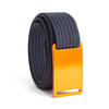 GRIP6 Belts Kids Classic Foxtail (Orange) buckle with navy strap swatch-image