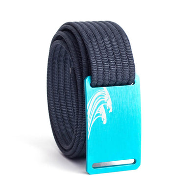 Women's Teal Surf Buckle GRIP6 belt with Navy strap swatch-image