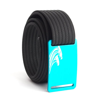 Women's Teal Surf Buckle GRIP6 belt with Black strap swatch-image