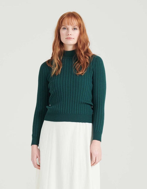 Rosey Turtle Neck Emerald