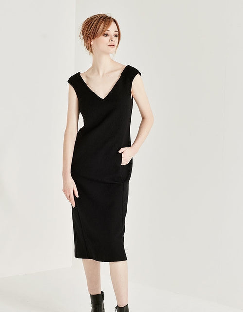 Skylark Dress Black Crinkle