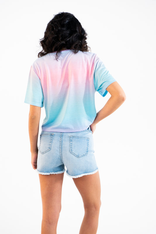 T-shirt Crop-top Multico Rose adultes