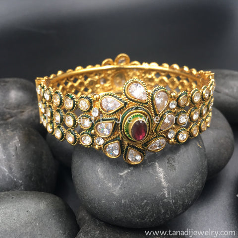 Kada with Kundan flower