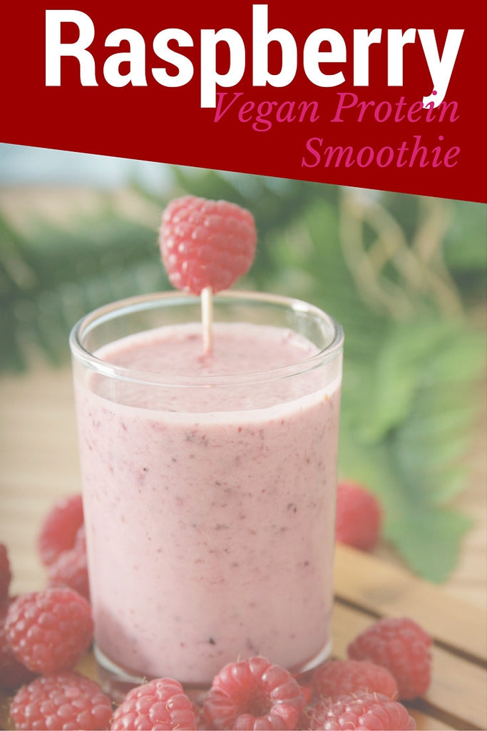 Raspberry Vegan Protein Smoothie