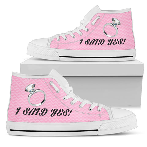 "Image of ""I Said Yes"" Bachelorette Party High-Top Shoes"